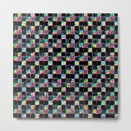 Multicolored Black Patchwork Metal Print