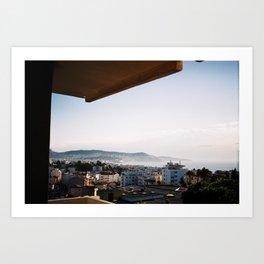 A Niçoise view. Art Print