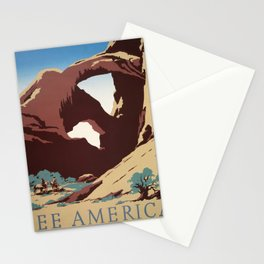 See America Vintage Poster: Arches National Park (1939) Stationery Cards