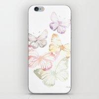 butterflies iPhone & iPod Skins featuring Butterflies by Aline Souza de Souza