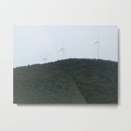Windmills on the Mountaintops Metal Print