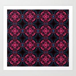 Abstract circles fractal pattern Art Print