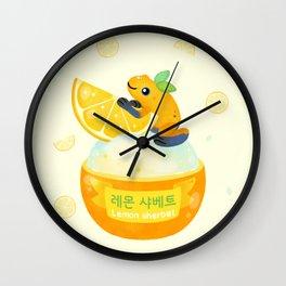 Golden poison lemon sherbet 2 Wall Clock