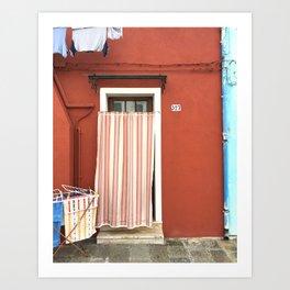Doorway Series / Burano, Italy / 004 Art Print