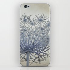 Vintage Wildflower Botanical Queen Anne's Lace in Blue iPhone & iPod Skin