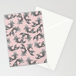 Koi Fish Pattern Stationery Cards