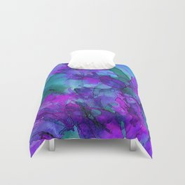 Alcohol Ink Flowers 2 Duvet Cover