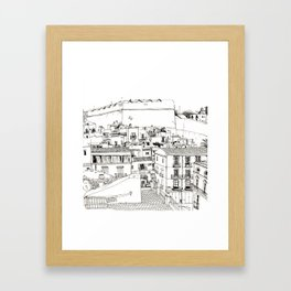 Ibiza old town view Framed Art Print