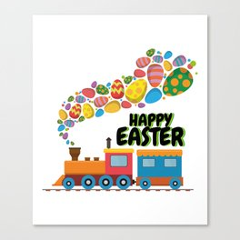 Train Easter Eggs For Boys Canvas Print