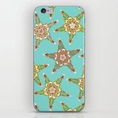 starfish flowers blue iPhone & iPod Skin