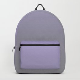 Gradient Blend Pantone 2021 Color of the Year Ultimate Gray 17-5104 and Lavender 15-3817 Purple Backpack