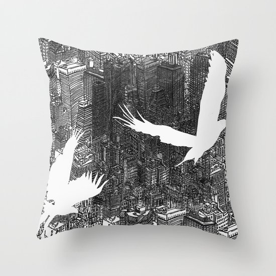 Ecotone (black & white) Throw Pillow