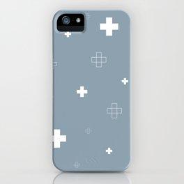 Cross Cross Grey iPhone Case