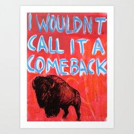 """Bison History 101"" Art Print"