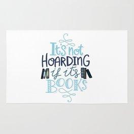 Hoarding Books Blue - Book Nerd Rug