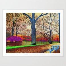 Wonderful colors of fall Art Print