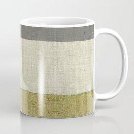 """""""Burlap Texture Natural Shades"""" Coffee Mug"""