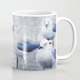 Sea gull ocean mixed media art Coffee Mug