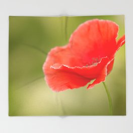 Miss you so much Red Poppy #decor #society6 Throw Blanket