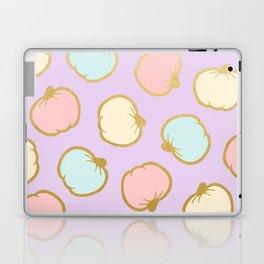 Pastel Pumpkin Pattern with Gold Laptop & iPad Skin