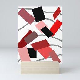 Scraps of Red Mini Art Print