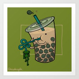 Food Series - Bubble Milk Tea Art Print