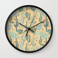 guns Wall Clocks featuring Succulent Guns by lapenche