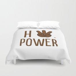 HiiiPower (w/text) : Chocolate Duvet Cover