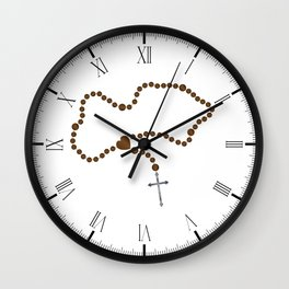 The Rosary Beads Wall Clock