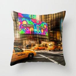 New York - Van Wagner Throw Pillow