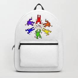 Keith Haring inspired Color Wheel Backpack