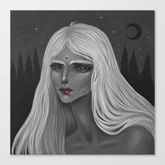 The Moon and Her Canvas Print