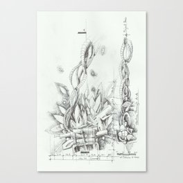 Abstracted Fire Canvas Print
