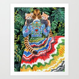 Red Panda, Rainforest Art Print