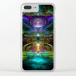 Neons - Fractal - Visionary - Manafold Art Clear iPhone Case