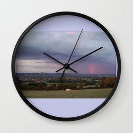 Magic Of Glastonbury Tor Wall Clock