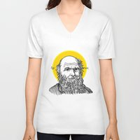 darwin V-neck T-shirts featuring St. Darwin by Kexit guys