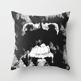 GNARLY FACE Throw Pillow