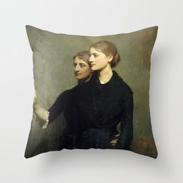 Abbott H. Thayer - The Sisters, 1884 Throw Pillow
