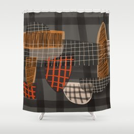 Grids 1 Shower Curtain