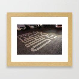 Stop Go Framed Art Print