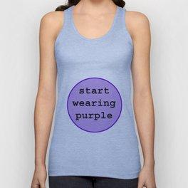 Start Wearing Purple Unisex Tank Top