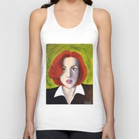dana scully Tank Tops featuring Dana Scully: Xfiles by Cameron Tyme Edison
