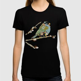 Cafe Swirly Bird 5 T-shirt