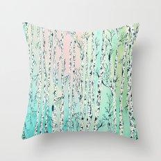 don't be a birch Throw Pillow
