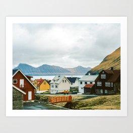 Faroe Islands 35mm K Portra Art Print