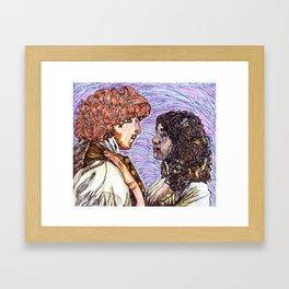 Outlander: Jamie & Claire Framed Art Print