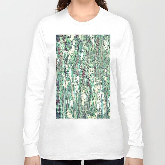 Abstract green Long Sleeve T-shirt