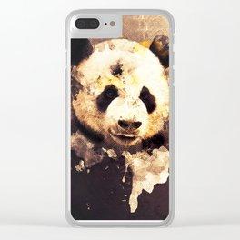 Panda Painting, Panda Mixed Media, Panda Bear, Panda Animal, Pandas Art, Panda Print, Best Panda Clear iPhone Case