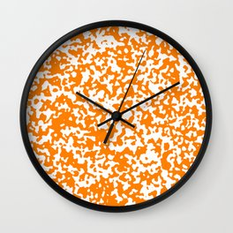Small Spots - White and Orange Wall Clock